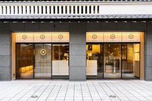 吉祥菓寮の四条店のお店入り口の外観写真
