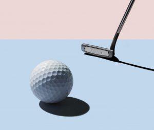 ゴルフボールとパター
