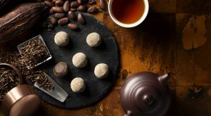 ほうじ茶味のショコラ大福