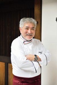 イタリア料理店のオーナーのポートレイト