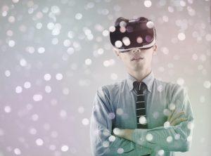 VRを使用している男性