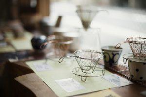 店舗で販売されている素敵な茶こし
