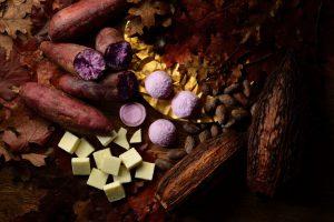 紫いものショコラ大福