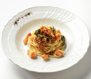 イタリア料理店のパスタ