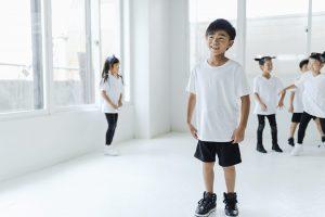 ダンス教室の男の子