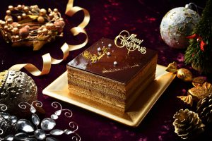 チョコ味のクリスマスケーキ