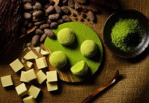 抹茶味のショコラ大福
