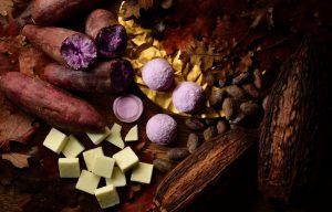 紫芋のショコラ大福