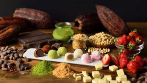 いろいろな種類のショコラ大福