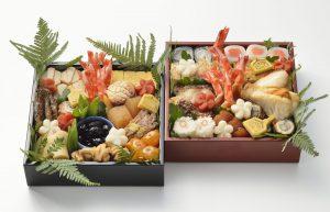 日本のおせち二段重