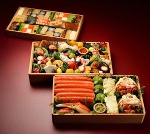 日本のおせち三段重