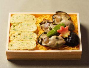 出汁巻きと牡蠣のお弁当