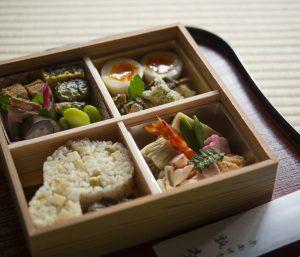 日本の料亭の和風弁当